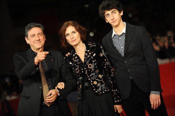 Pietro Castellitto con papà Sergio e mamma Margaret Mazzantini