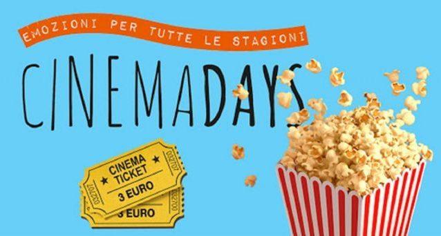 CinemaDays 2020, ritorna il cinema a 3 euro: ecco le date e