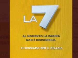 Problemi al sito di La7 durante Propaganda Live, il direttor