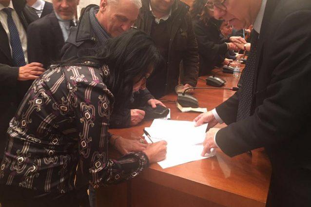 Sonia Palmeri firma accordo per Almaviva Napoli