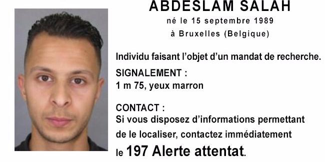 Abdeslam Salah, uno degli attentatori di Parigi, ora in fuga verso l'Italia.