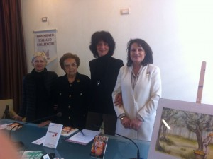 da sin. Adriana Pontoglio, Tina Leonzi, Maria Giovanna Farina e Augusta Amolini