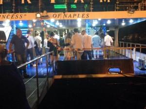 L'imbarco al Molo Beverello