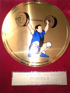 Medaglia vinta da Max Bonfanti alle regionali lombarde negli anni '80