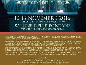 Simposio, a Roma il 12 e 13 novembre il trionfo del gusto