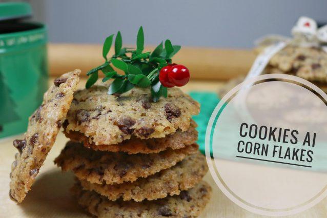 Cookies Americani con gocce di Cioccolato e Corn Flakes | Ricetta Facile di Natale |