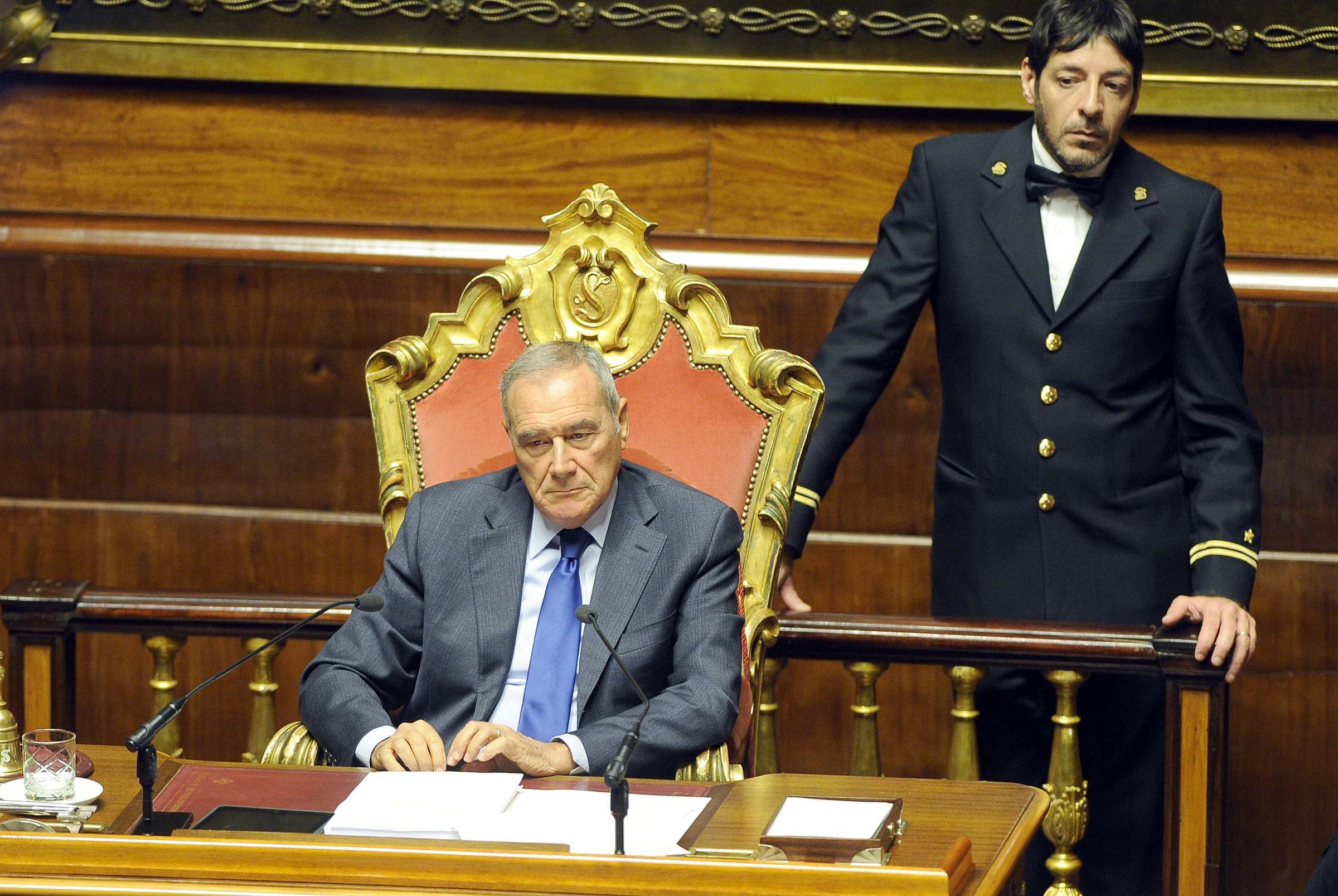 Foto Fabio Cimaglia / LaPresse07–12–2016 RomaSenato. Voto di Fiducia sulla Legge di BilancioNella foto Pietro Grasso
