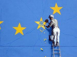 La Brexit secondo Banksy: via la stella del Regno Unito