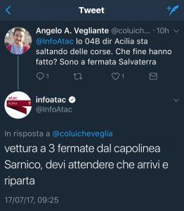atac blog fanpage reclamo roma angelo andrea vegliante