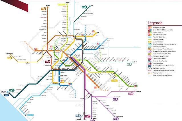 Mappa della metropolitana di Roma