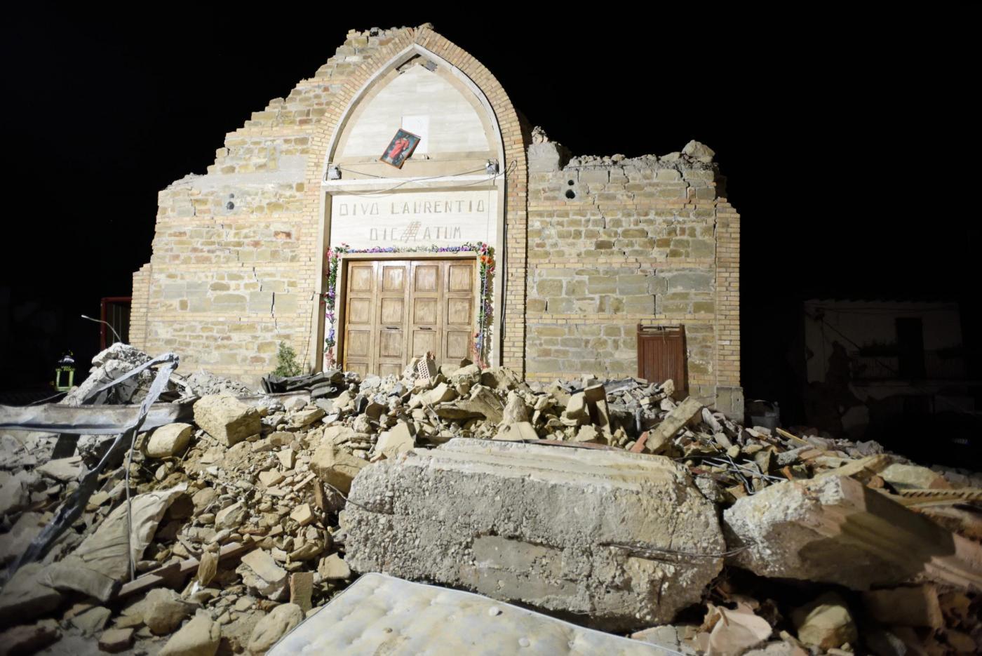 Villa San Cipriano Amatrice Dopo Il Terremoto Immaggini