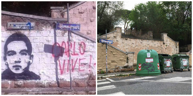 Garbatella cancellato murales per carlo giuliani la for Ufficio decoro urbano roma
