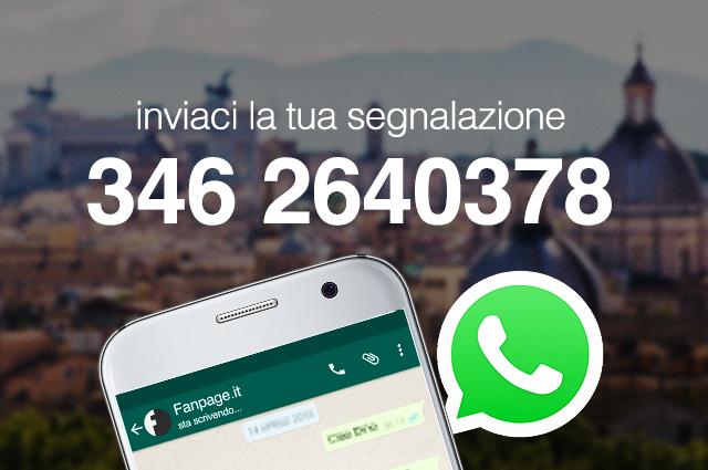Il numero Whatsapp per contattare la redazione di Roma Fanpage.it