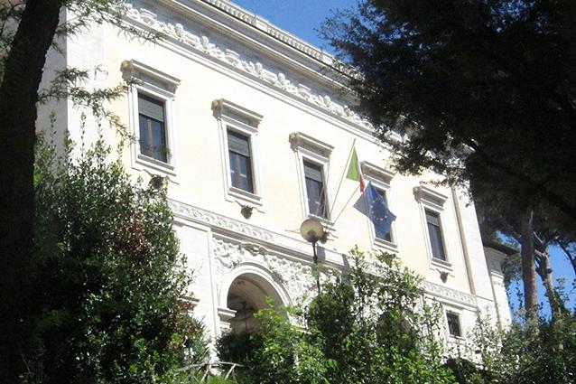 Esterno di Villa Lubin a Villa Borghese (Wikipedia).