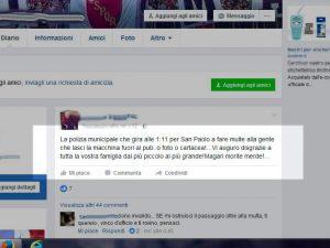 """Insulti ai vigili sui social network, multati in due: """"Da oggi tolleranza zero"""""""