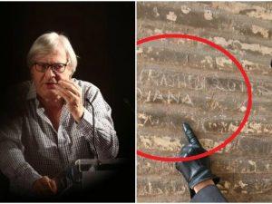 """Vittorio Sgarbi: """"Ma chi se ne frega dei graffiti sul Colosseo, sono utili"""""""