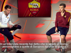 """Anche Dzeko e Szczesny contro le buche di Roma: """"Sembrano quelle di Sarajevo dopo le bombe"""""""