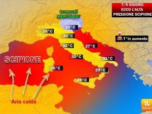 Meteo Roma, ecco Giuda: caldo torrido nella Capitale, temperature sopra i 35 gradi