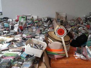 Operazione salva spiagge a Ostia: sequestrate tonnellate di merce pronta ad essere venduta