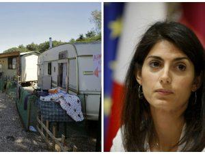 Raggi vuole chiudere i campi rom con i fondi europei, ma non dice che sono soldi reperiti da Marino