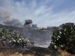 In fiamme la Valle dei Casali: le fiamme minacciano le abitazioni a Casetta Mattei
