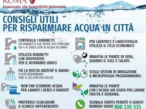 Siccità e crisi idrica: i consigli del comune di Roma per non sprecare l'acqua