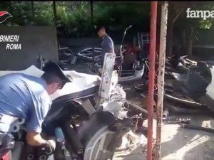 Rubavano auto e poi le smantellavano ai Castelli Romani: arrestate 3 persone