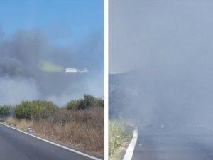 Incendio sulla via Pontina, svincolo per Trigoria chiuso per ore: traffico in tilt