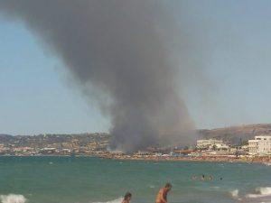 Incendio a Santa Marinella, chiuso e riaperto tratto dell'A12 tra Civitavecchia e Santa Severa