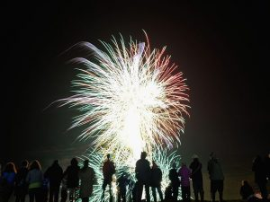 Fuochi d'artificio la notte di San Lorenzo a Roma