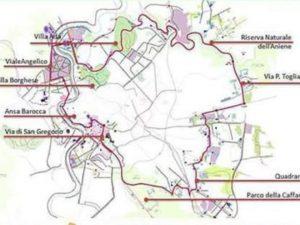 Presentata la mappa del Grab, il Grande Raccordo Anulare delle bici: 45 chilometri di ciclabili