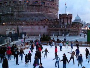 Piste di pattinaggio sul ghiaccio a Roma aperte fino a marzo 2018