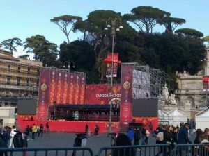Foto postata su Facebook dall'associazione Carnevale Romano