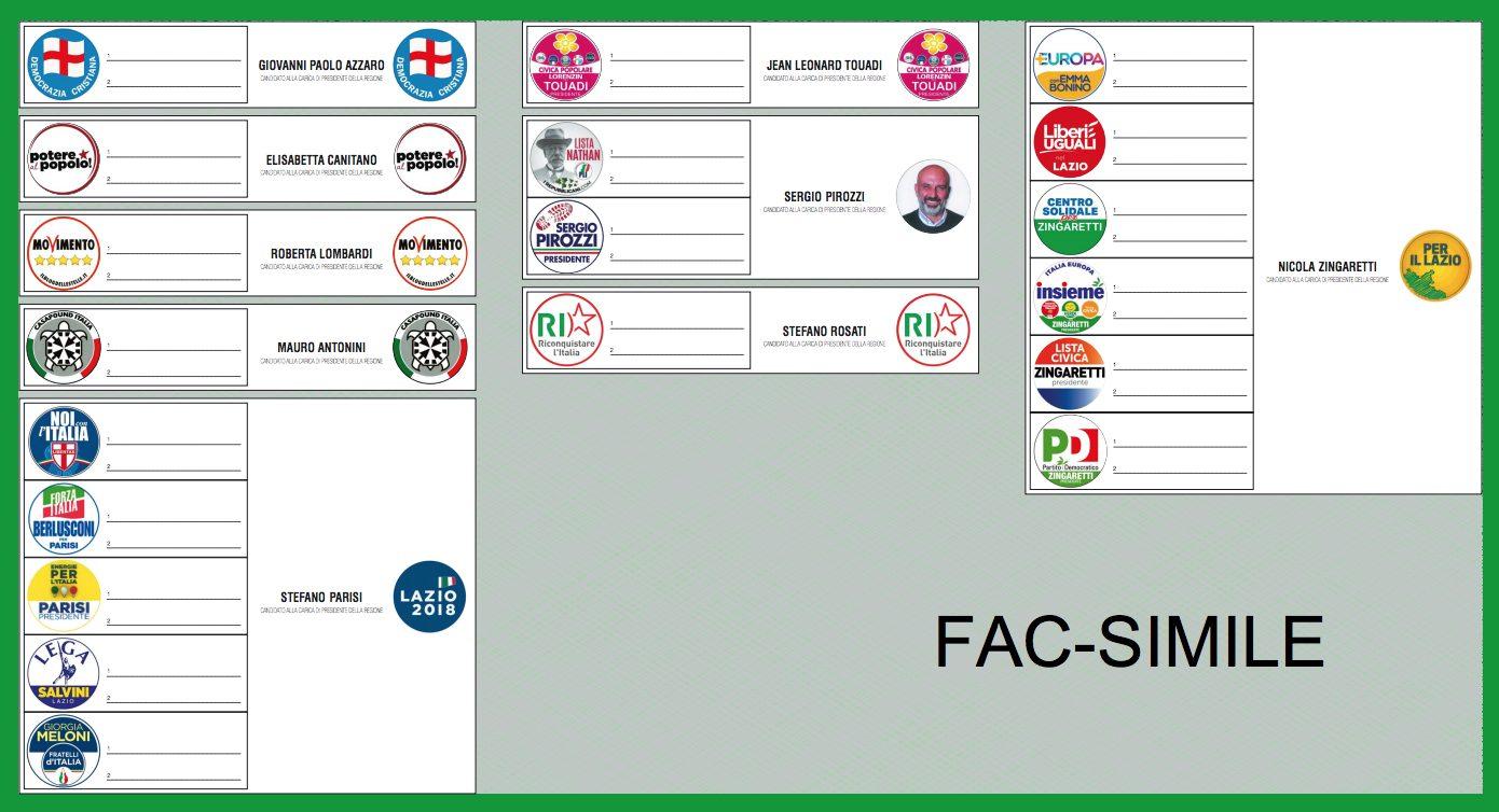 Elezioni regionali in Lazio e Lombardia, ecco il fac-simile della scheda e come si vota