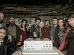 A roma il professore protagonista della serie tv 39 la casa for Guarda serie la casa di carta