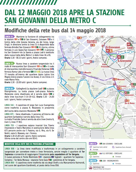 Roma: aperta metro C, stazione S.Giovanni