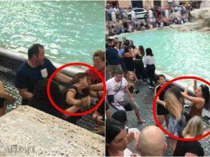 Foto vigili del fuoco – rissa alla Fontana di Trevi
