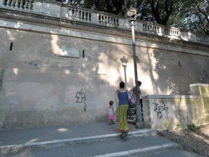 La salita del Pincio a Villa Borghese