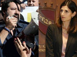 """Virginia Raggi contro Matteo Salvini: """"Hai stancato con le b"""