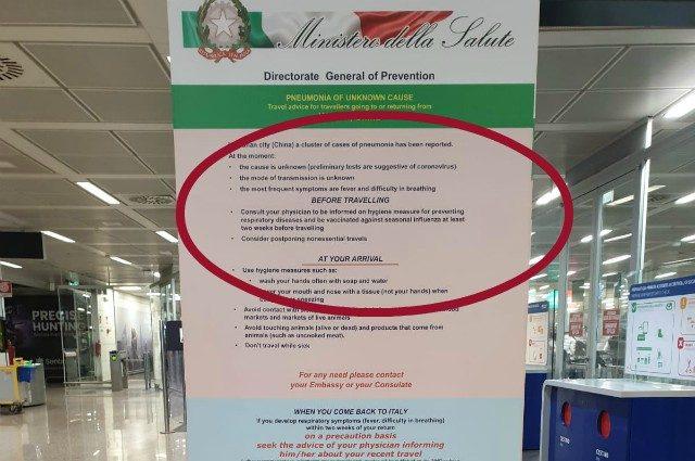 Virus cinese, volantino del ministero della Salute a Fiumicino: controlli su 5 voli al giorno - Roma Fanpage.it