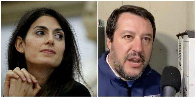 """Matteo Salvini annuncia la manifestazione a Roma, Raggi: """"St"""