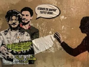 """Realizzato un nuovo murales dedicato a Zaki e Regeni: """"Nessu"""