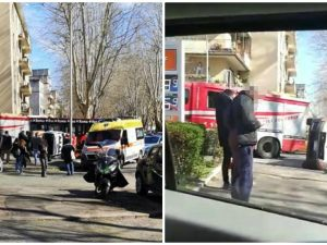 Roma |  incidente a viale Jonio |  si ribalta automedica |  Vigili del Fuoco sul posto