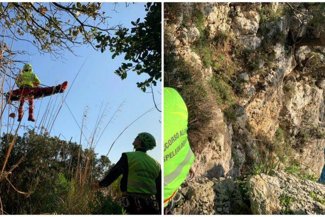 Gaeta: escursionista salvato in elicottero mentre scala una