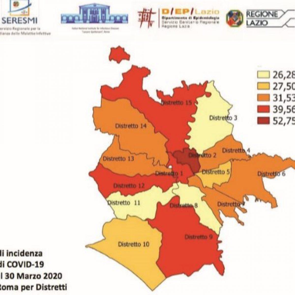 Quartieri Roma Cartina.Quali Sono I Quartieri Di Roma Con Piu Contagi Da Coronavirus
