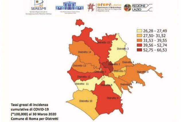 Quali sono i quartieri di Roma con più contagi da coronaviru