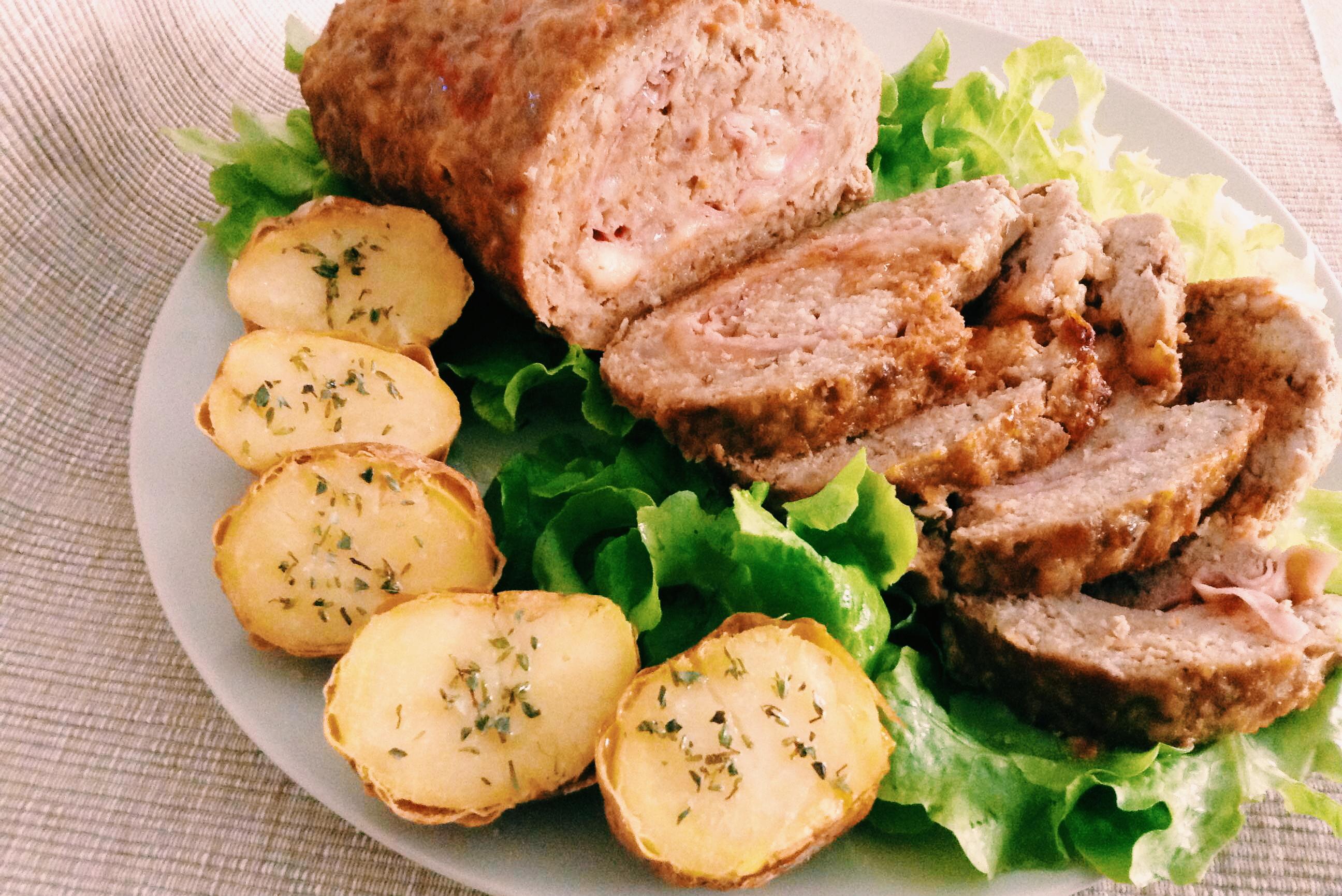 Polpettone al forno con patate ricetta facile e gustosa ricette