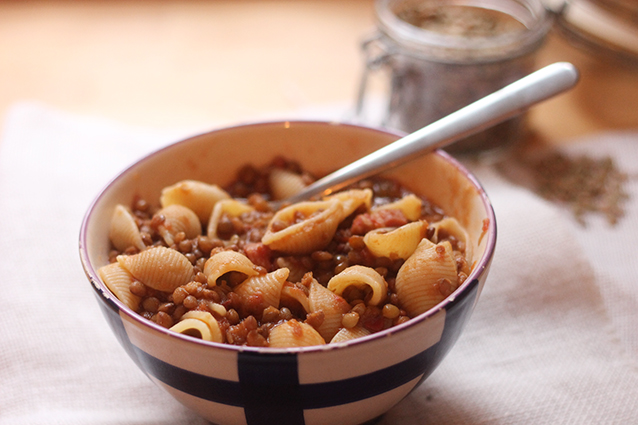 Pasta e lenticchie ricette
