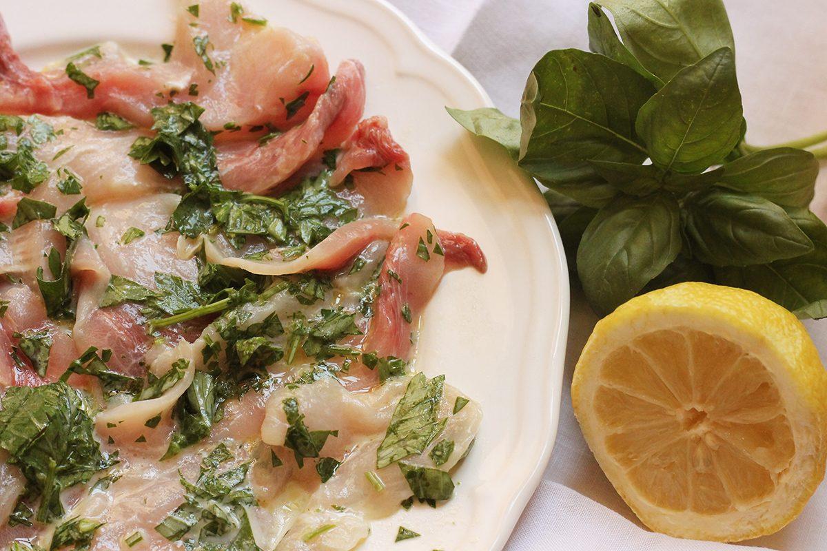 Carpaccio di pesce spada la ricetta dell 39 antipasto di for Ricette di pesce