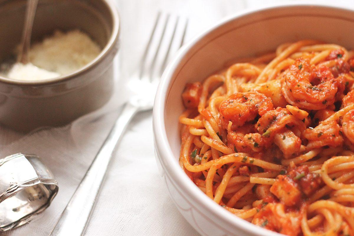 Amatriciana di mare la ricetta del piatto al sapore di mare for Piatto tipico romano